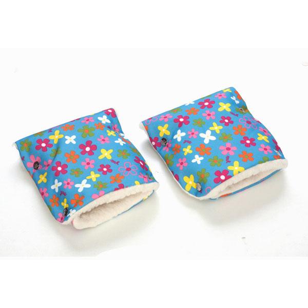 Муфты-рукавички Чудо-Чадо (Рисунок) меховые Цветочки<br>