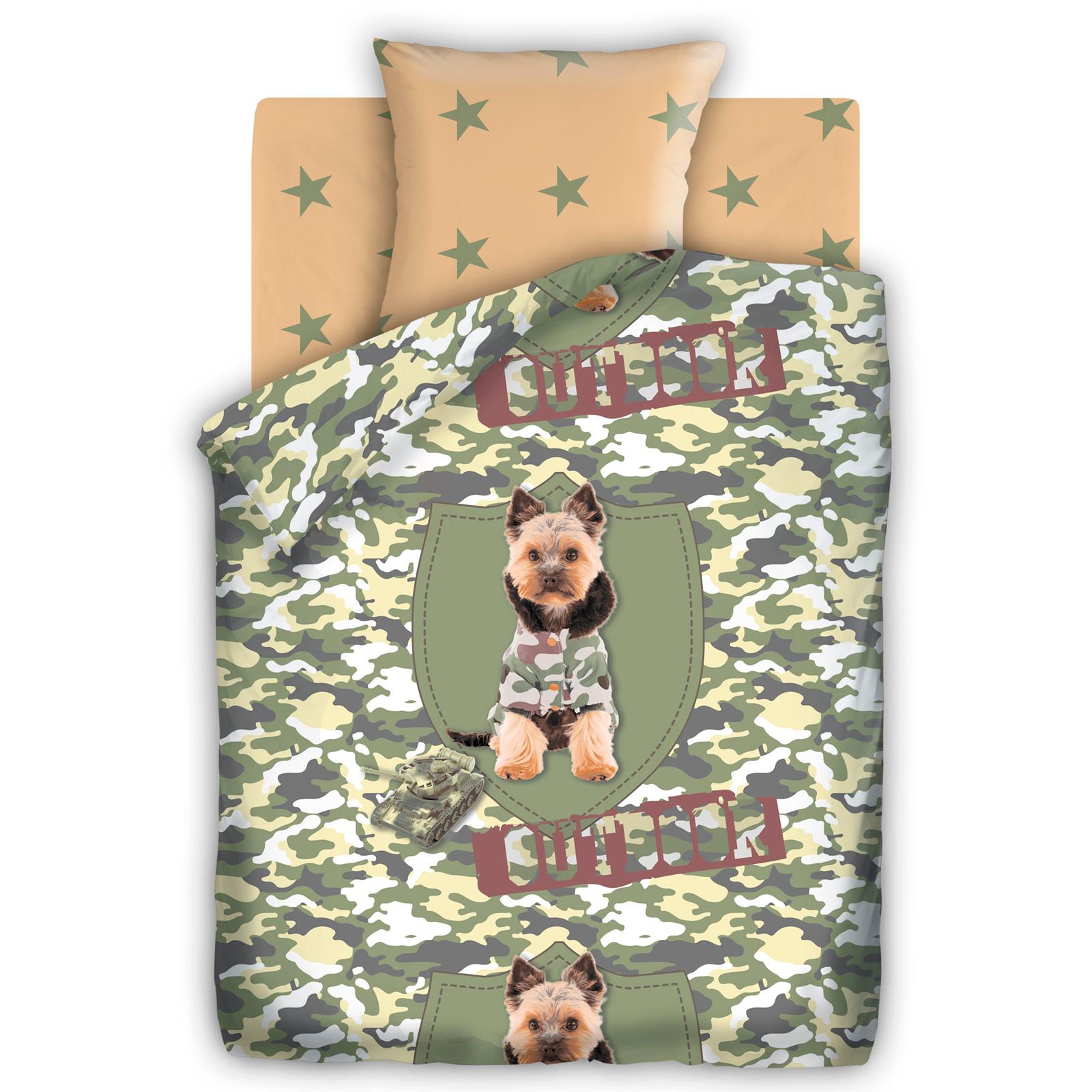Комплект постельного белья детский 1.5 бязь Непоседа For you с наволочкой 70х70 Йорк<br>