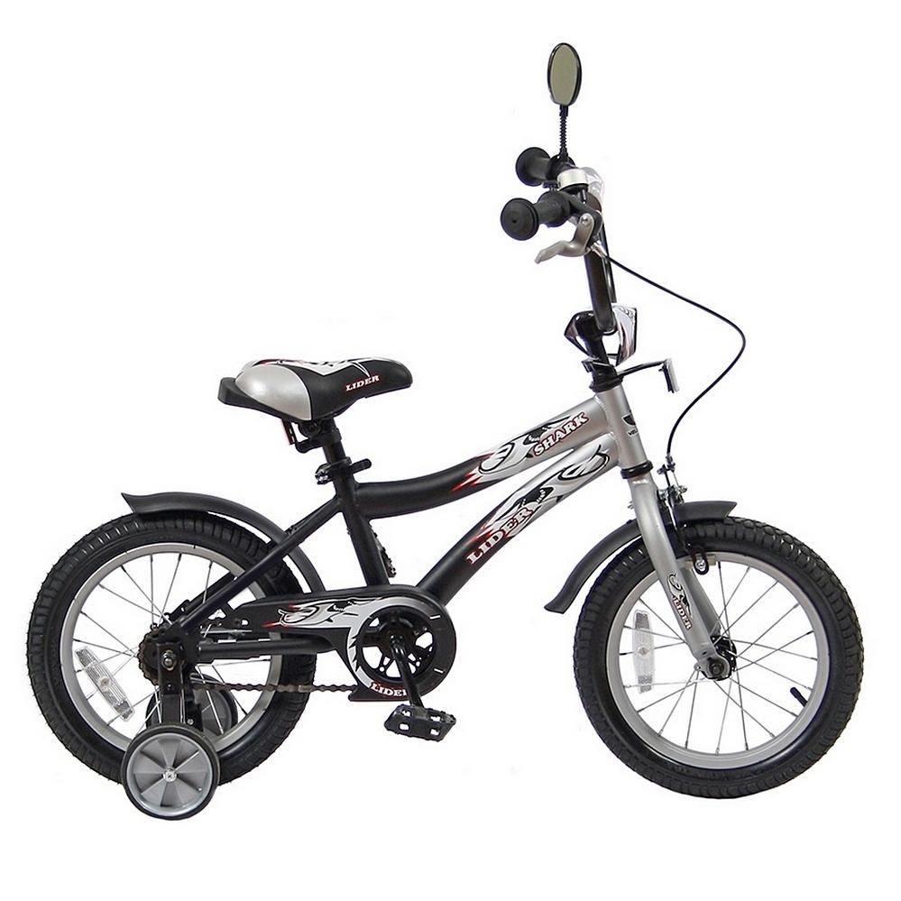 Велосипед двухколесный Velolider 14 Lider Shark 14A-1487 Серый/Черный<br>