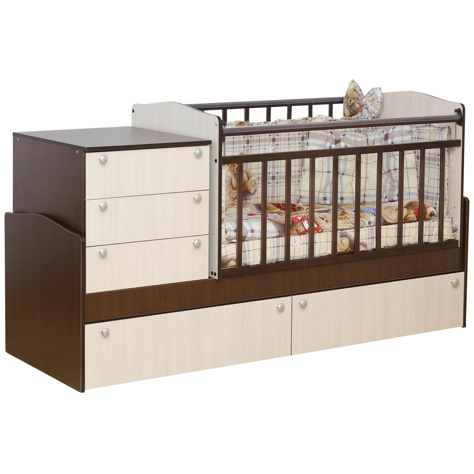 Кроватка-трансформер Daka Baby Укачай-ка 04 без механизма Комбинированный<br>