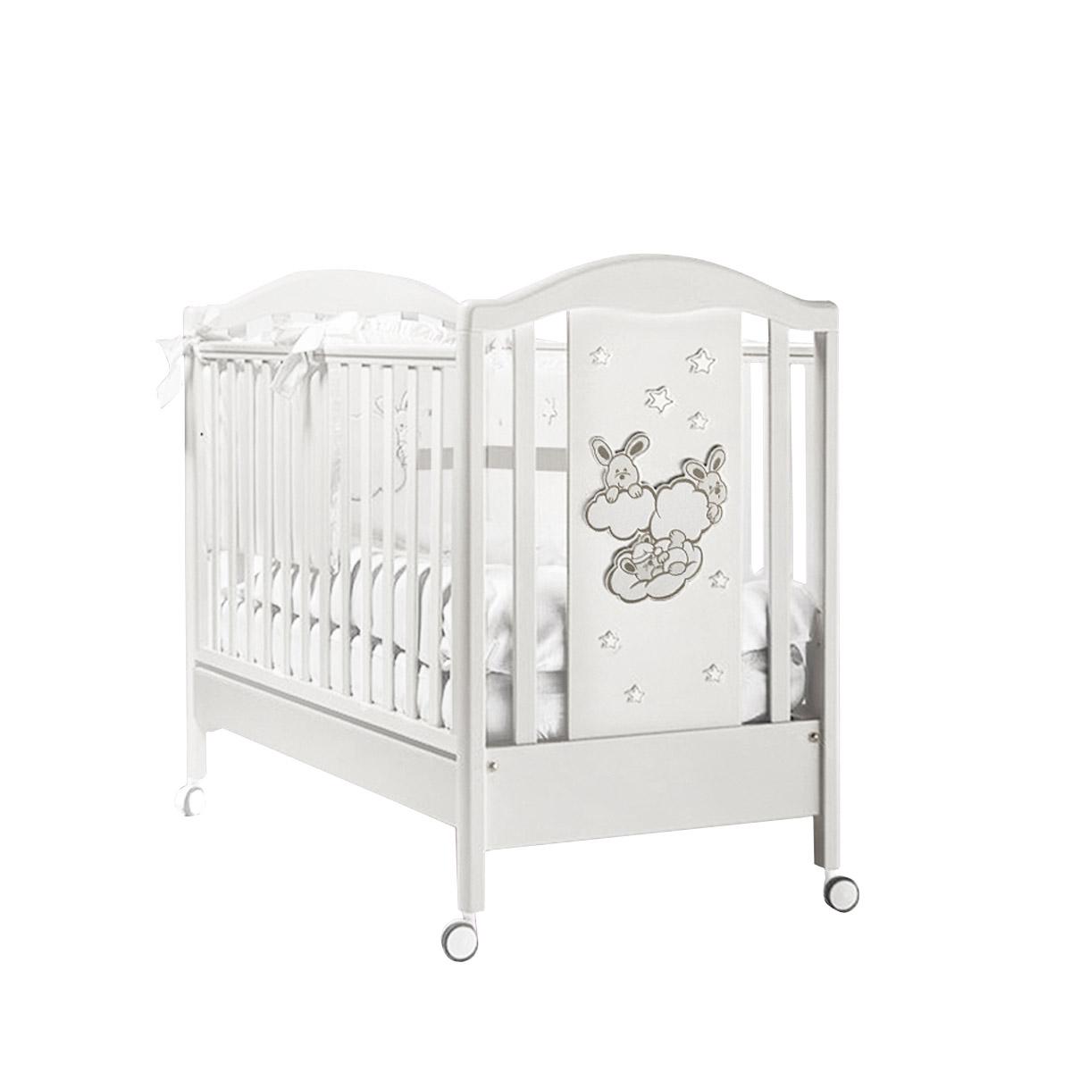 Кроватка Feretti Romance 125х65 классика Bianco/White<br>