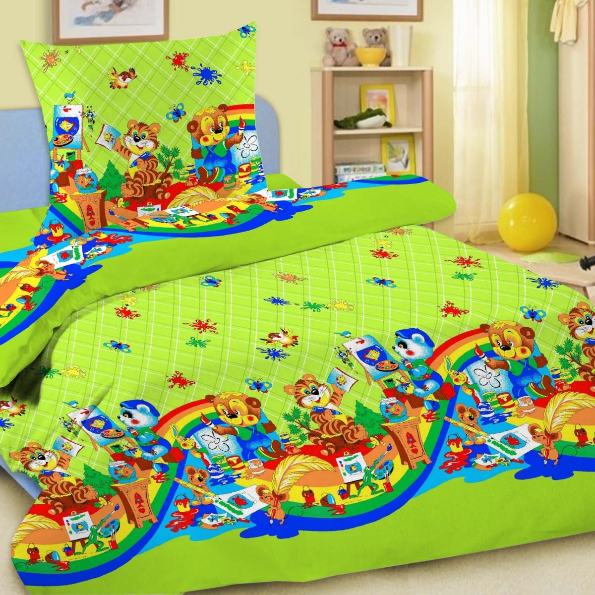 Комплект постельного белья детский Letto в кроватку BG-27<br>