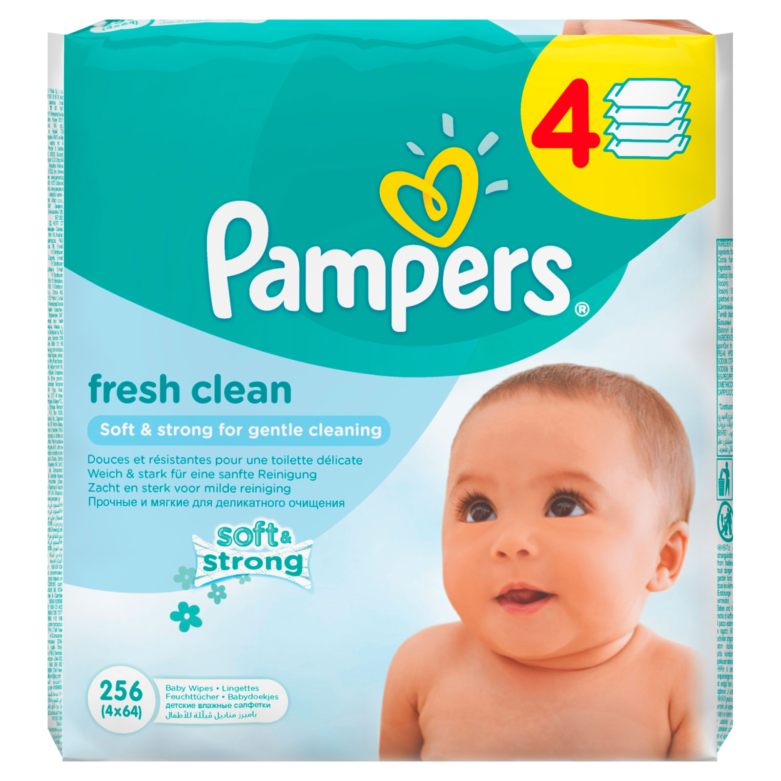 �������� ������� Pampers Baby Fresh Clean ������� ���� (4 � 64 ��) 256 ��