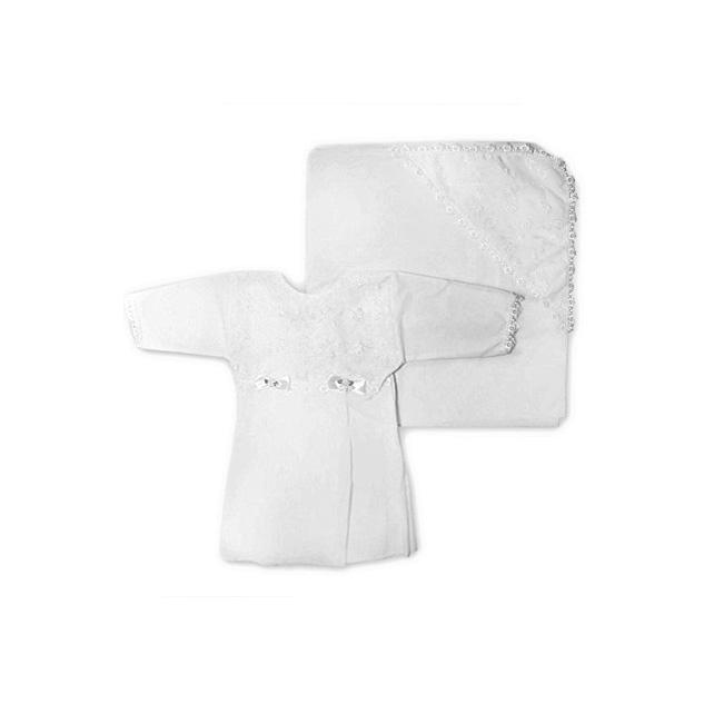 Крестильный набор Арго для девочки (платье 62-68 см, уголок 90*90)