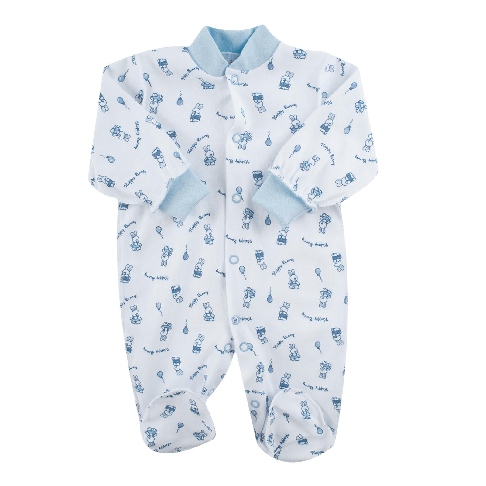 Комбинезон КОТМАРКОТ для мальчика, цвет набивка голубой тон 6-9 мес (размер 74)<br>