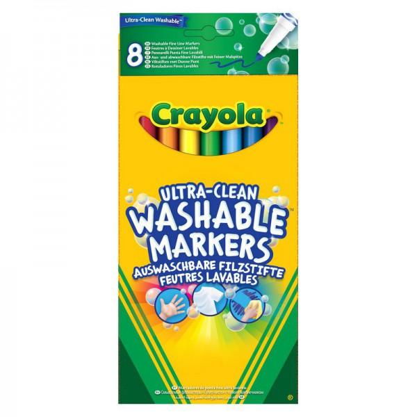 Фломастеры Crayola смываемые тонкие 8 штук<br>
