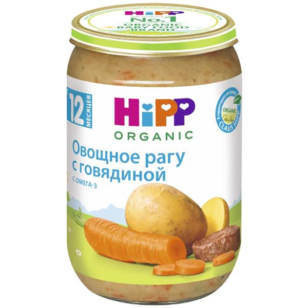 Пюре Hipp мясное с овощами 220 гр Овощное рагу с говядиной (с 12 мес)<br>