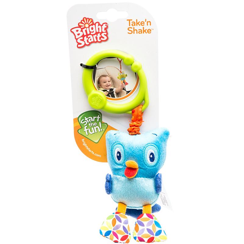 Развивающая игрушка Bright Starts Дрожащий дружок - Сова<br>