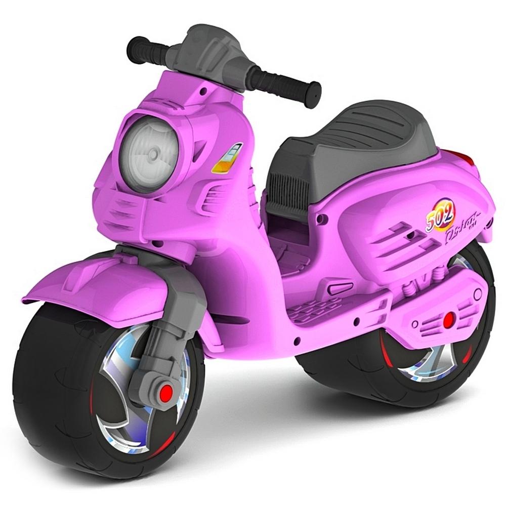 Каталка-мотоцикл ОР502 Скутер Розовый<br>