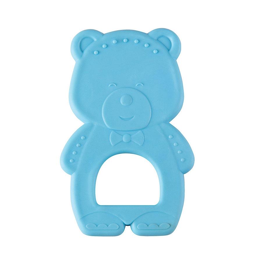 "Прорезыватель Happy Baby ""Teether Teddy Bear"" термоэластичный Синий  с 3 мес."