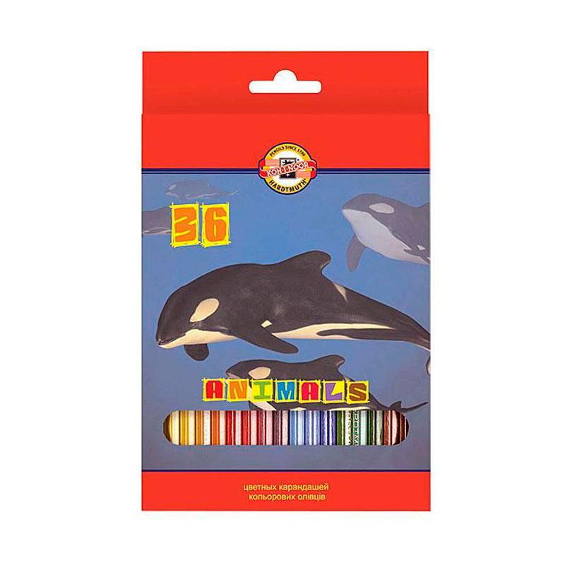 Набор карандашей цветных KOH-I-NOOR ЖИВОТНЫЕ 36 цветов<br>
