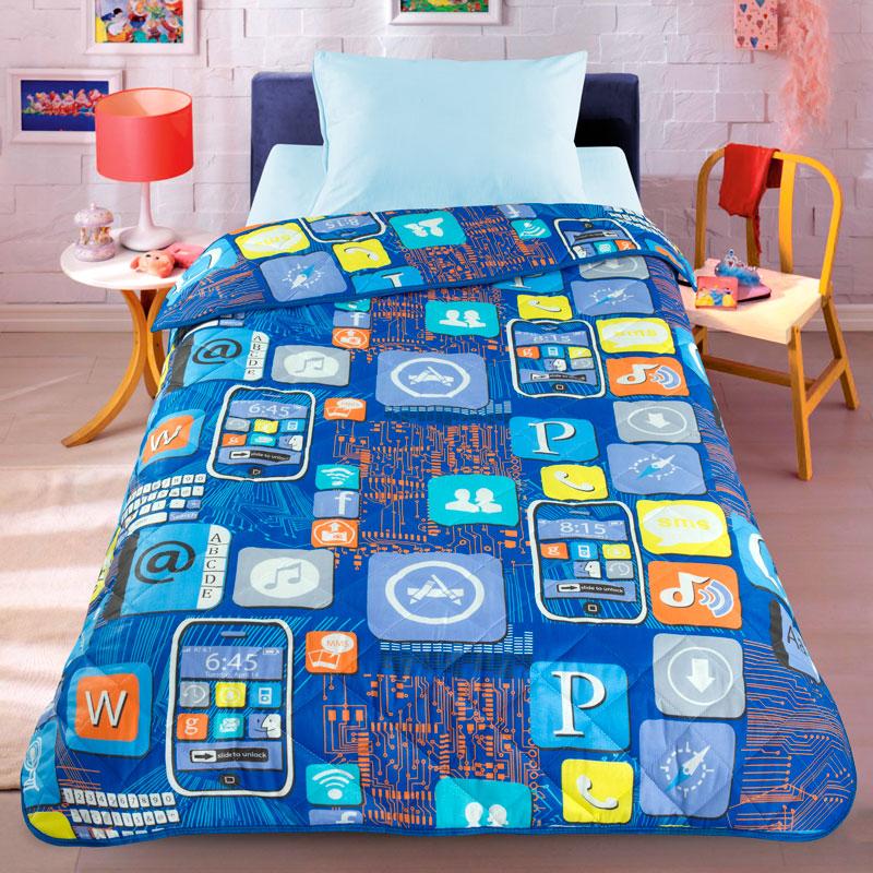 Покрывало-одеяло Letto 140*210 Смартфон<br>