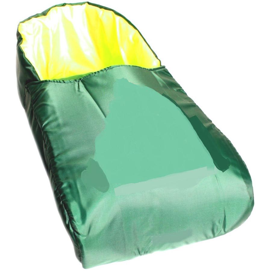 Матрасик с попоной для санок RT Зеленый с салатовым<br>