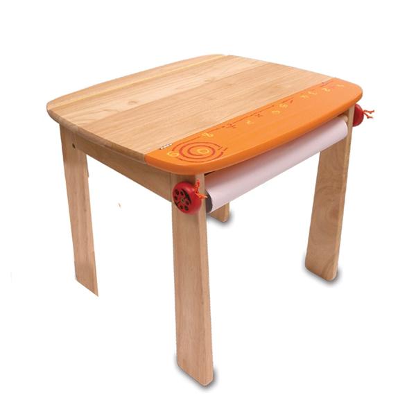 Стол I`m Toy для рисования Оранжевый с держателем для рулона бумаги и контейнером<br>