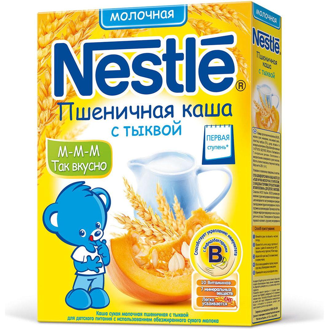Каша Nestle молочная 250 гр Пшеничная с тыквой (1 ступень)<br>