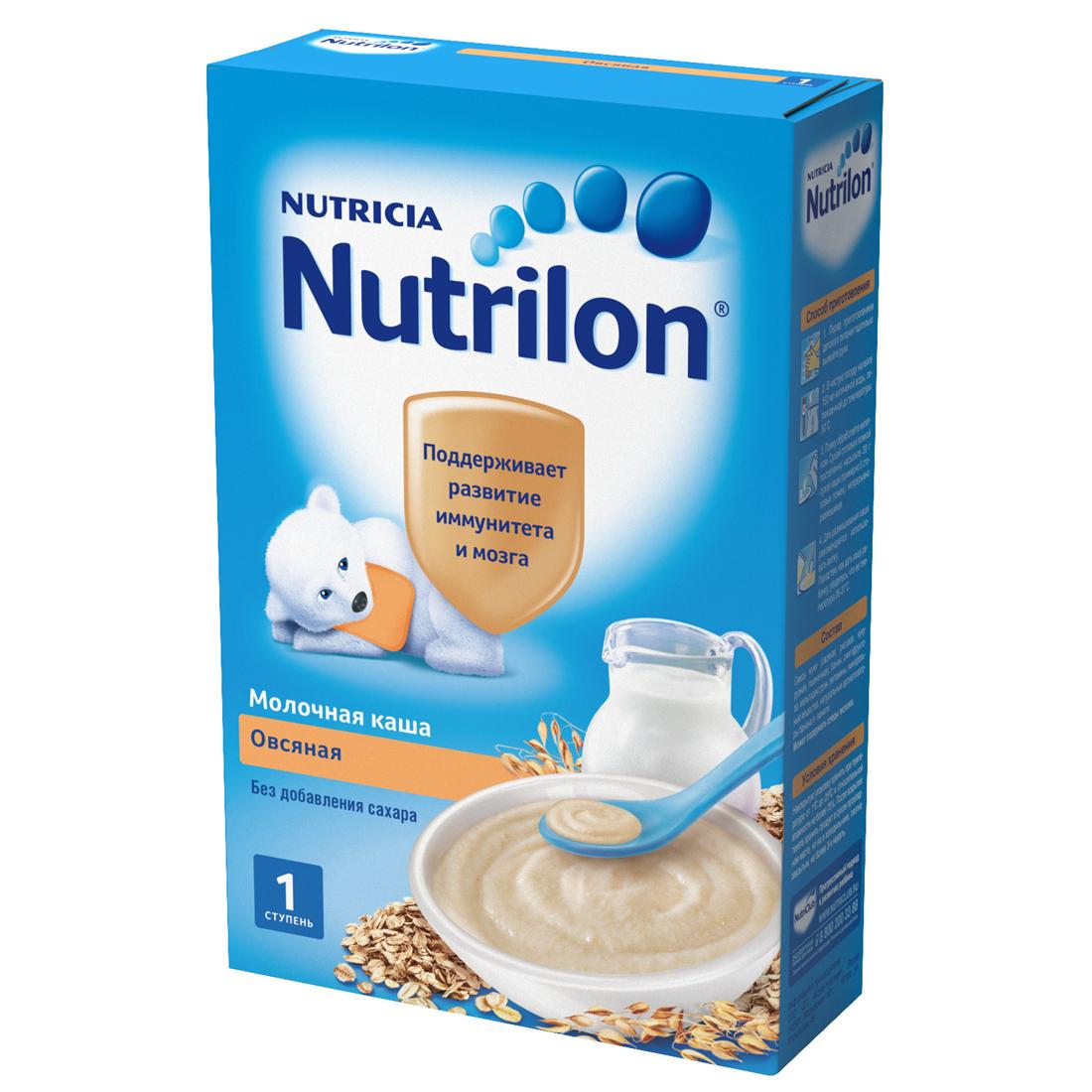 Каша Nutrilon молочная 225 гр Овсяная (с 5 мес)