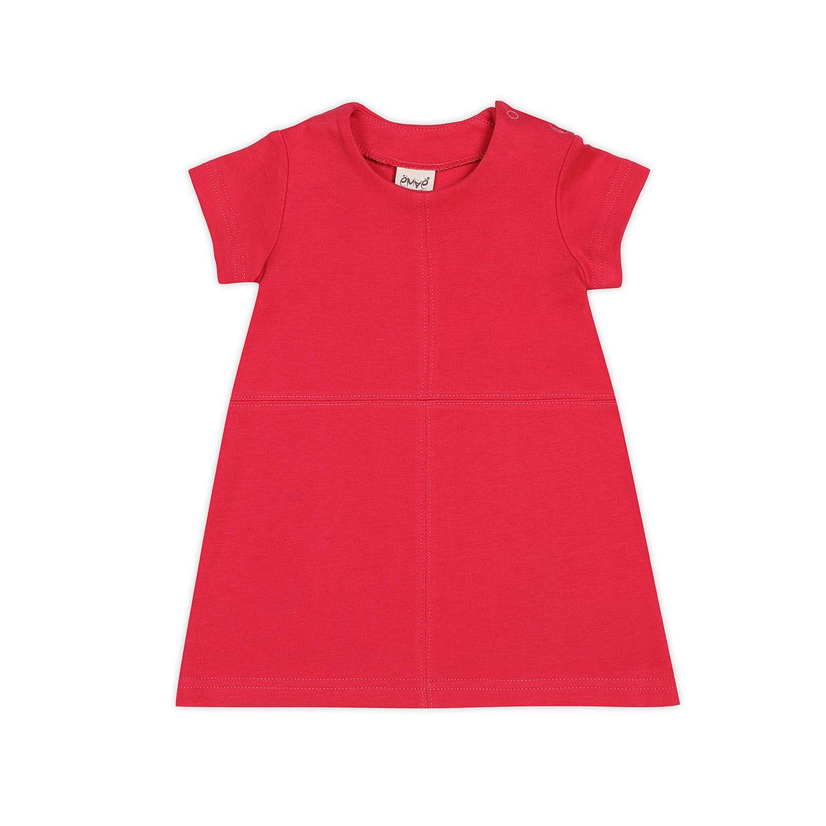 Платье Ёмаё Бабочки (12-201) рост 62 коралл<br>