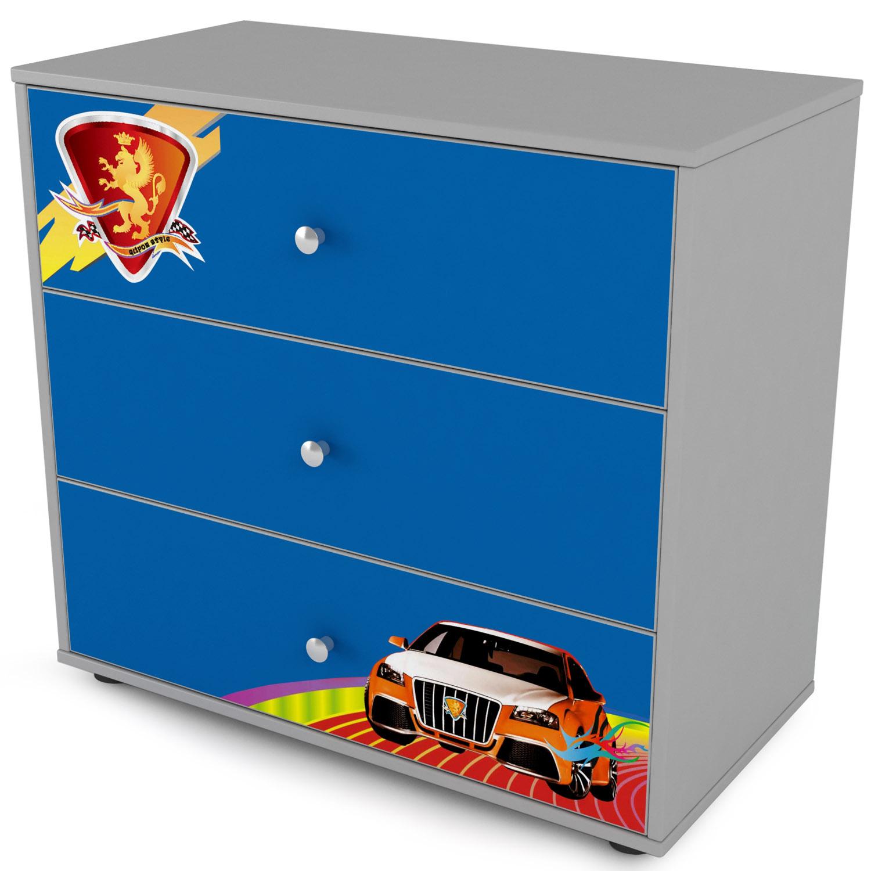 Комод 3 ящика Grifon Style R800 Синий<br>