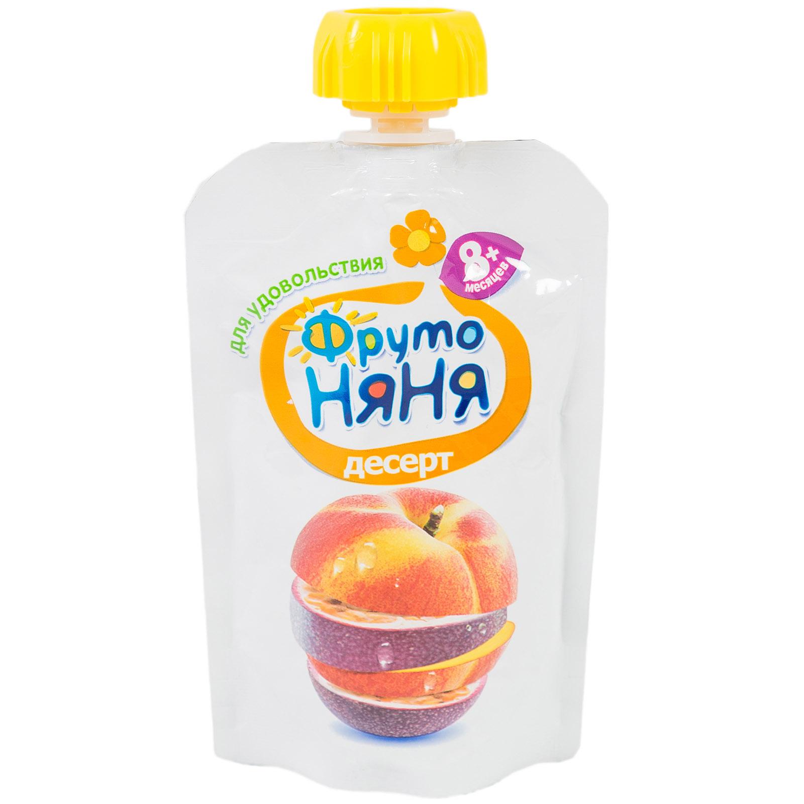 Пюре Фрутоняня фруктовое 90 гр Яблоки персики маракуйя (с 8 мес)<br>