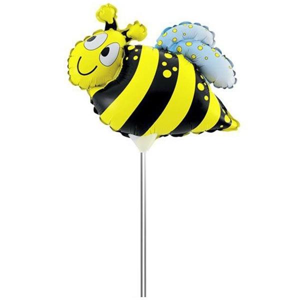 Шар фольгированный ACTION! Пчела на палочке 20х20см<br>
