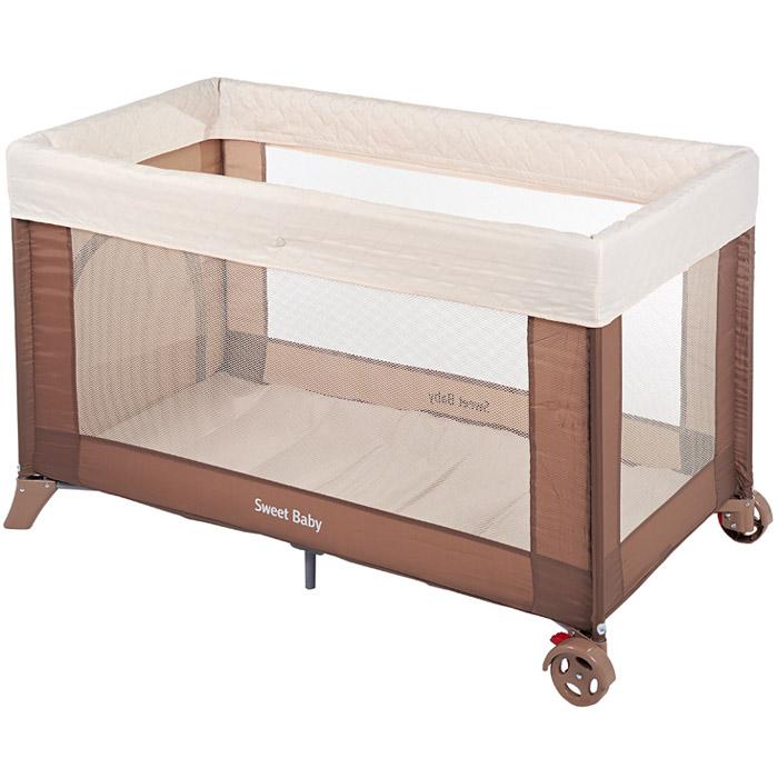 Манеж-кровать Sweet baby  Mantellina Cacao<br>