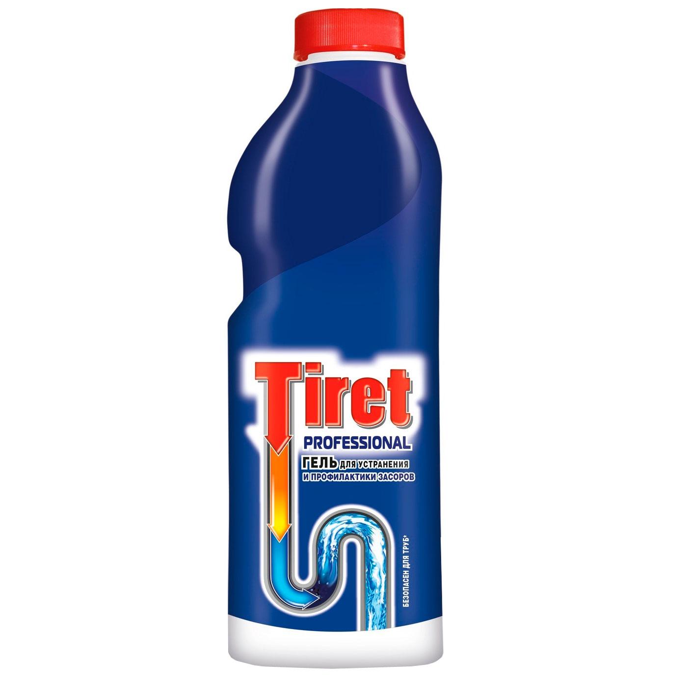 Гель для удаления засоров Tiret professional в канализационных трубах 1 л<br>
