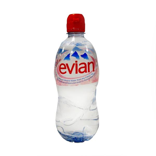 Негазированная минеральная вода Evian Эвиан 0,75 л. (пластик)<br>