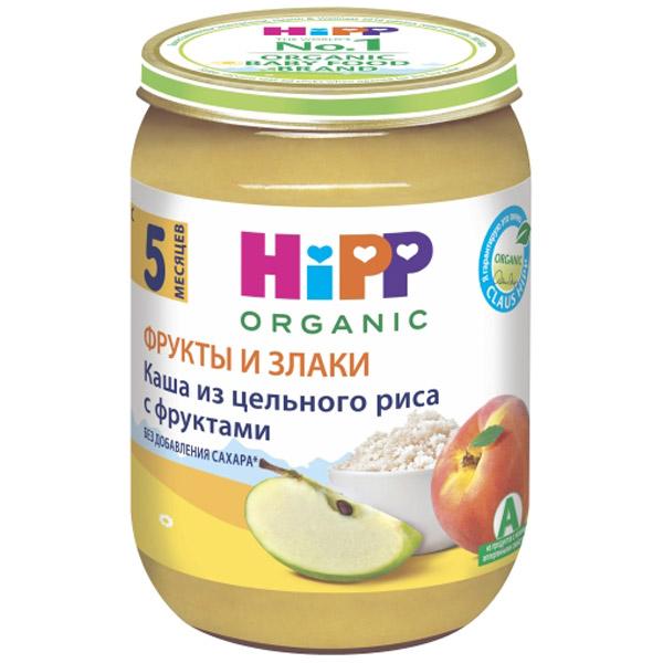 Каша Hipp зерновая с фруктами 190 гр Рис с фруктами (с 5 мес)<br>