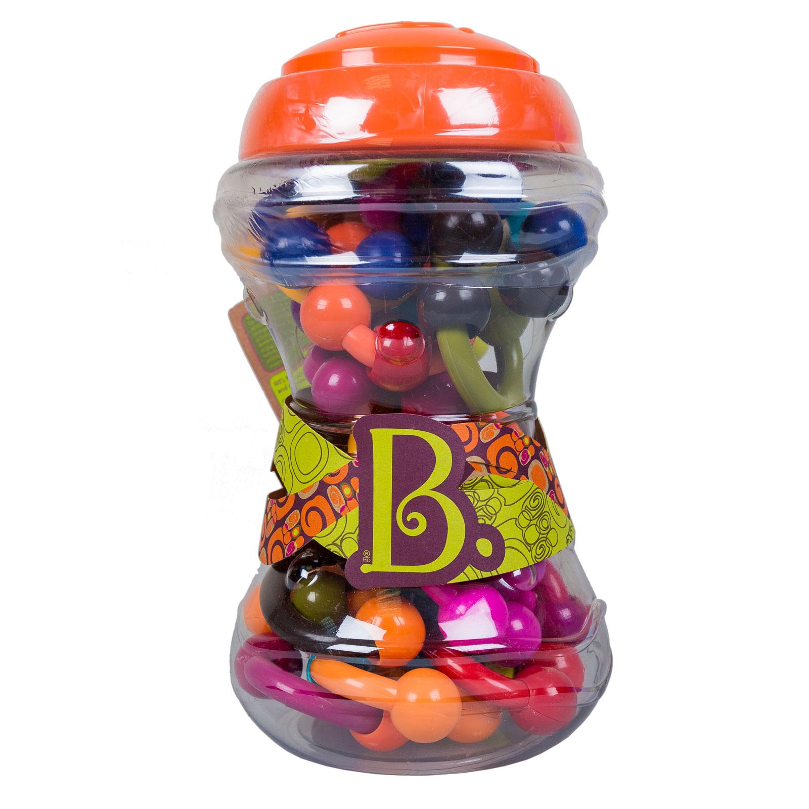 Развивающая игрушка B Dot Набор развивающих погремушек Веселые колечки от 3 мес<br>
