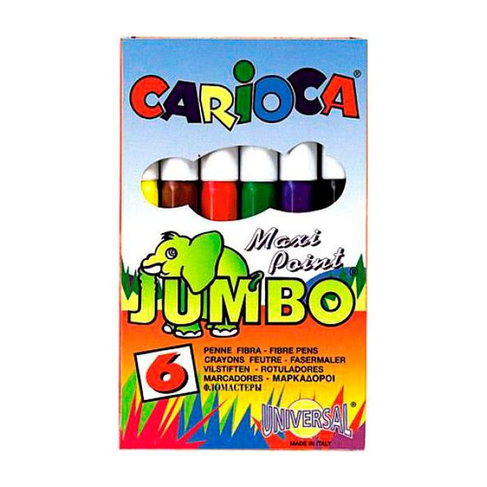 Набор фломастеров CARIOCA MINI JUMBO для детей 6 цветов<br>