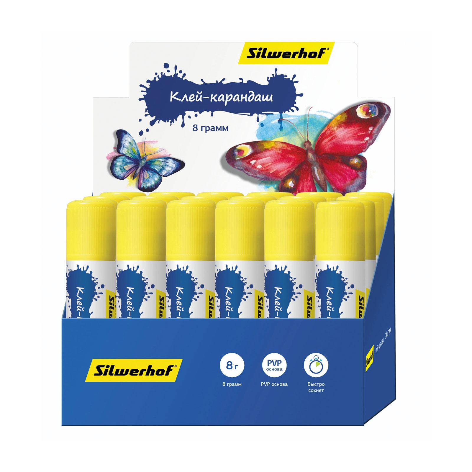 Клей-карандаш Silwerhof 8 гр Бабочки