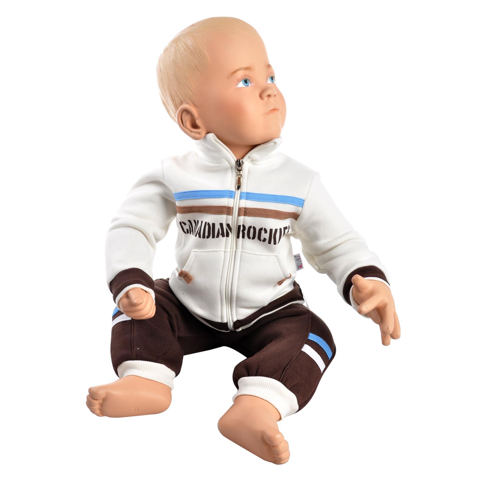 Комплект одежды Estella для мальчика, брюки, толстовка, цвет - Коричневый Размер 74