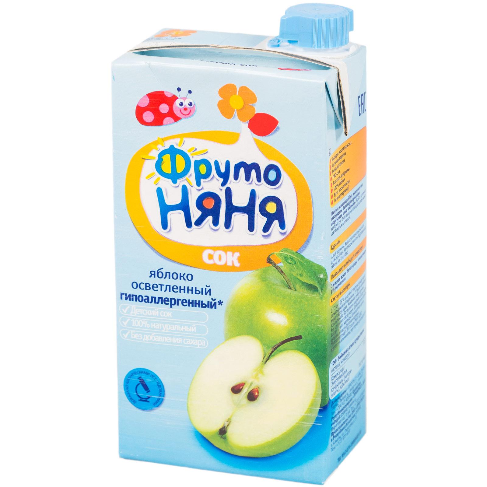 Сок Фрутоняня 500 мл Яблочный осветленный (с 3 лет)<br>