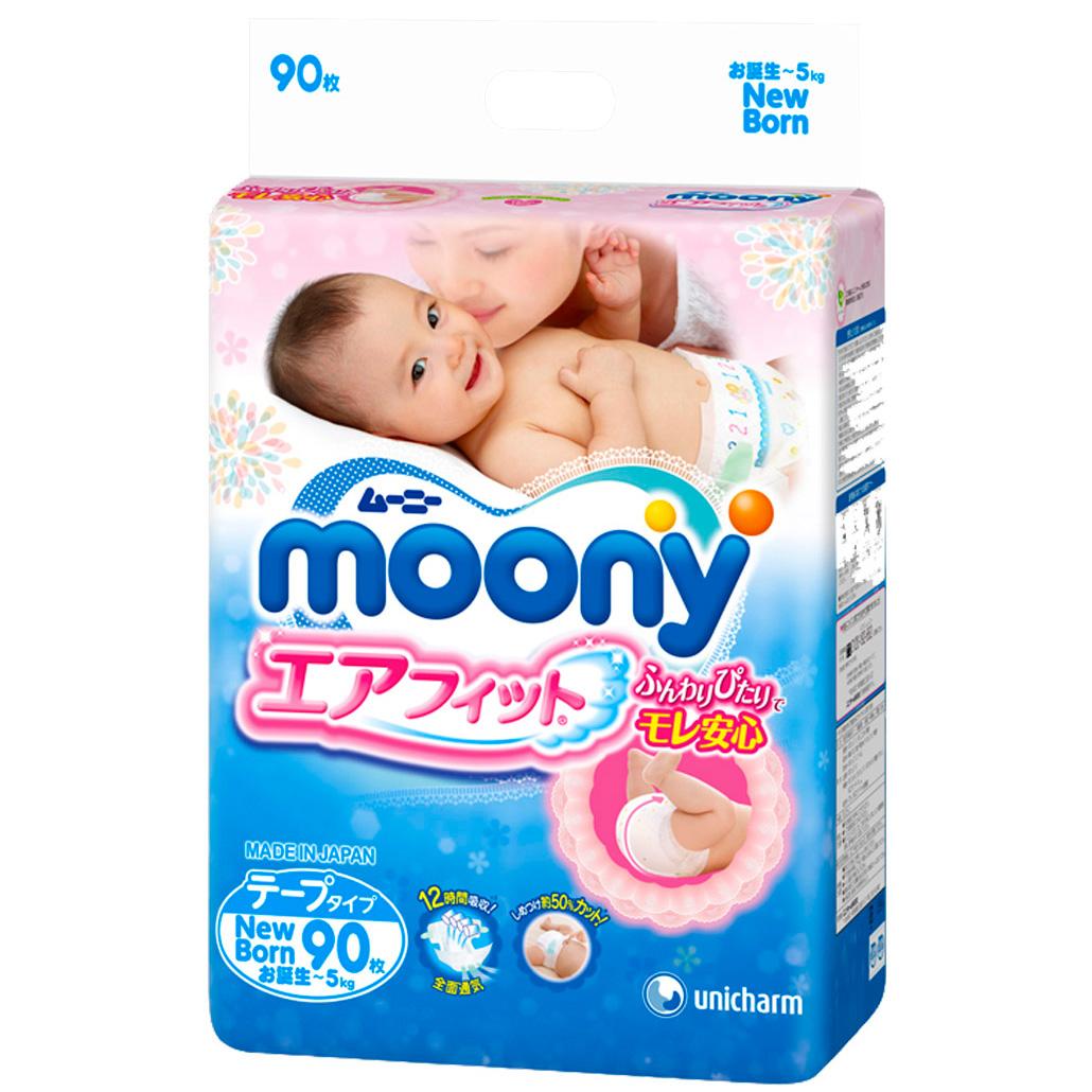 Подгузники Moony до 5 кг (90 шт) Размер NB<br>