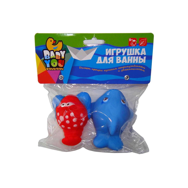 Игрушки для ванной Bondibon Дельфин, Краб