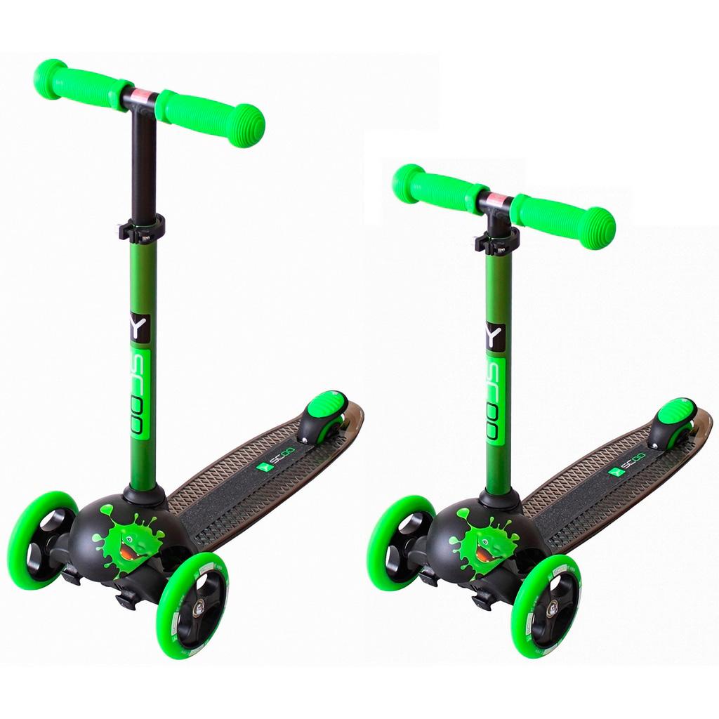 Самокат Y-SCOO RT Trio Diamond 120 Monsters 3 высоты с блокировкой колес Green Zoko<br>