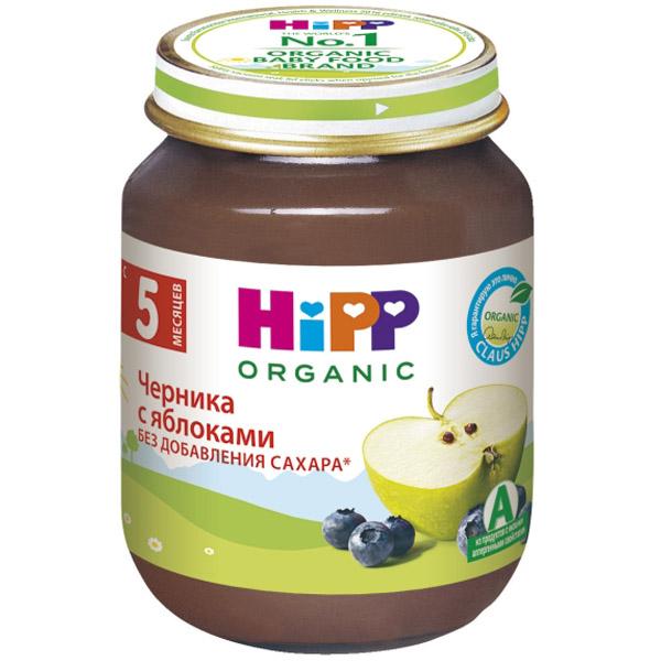Пюре Hipp ягодное 125 гр Черника с яблоком (с 5 мес)<br>