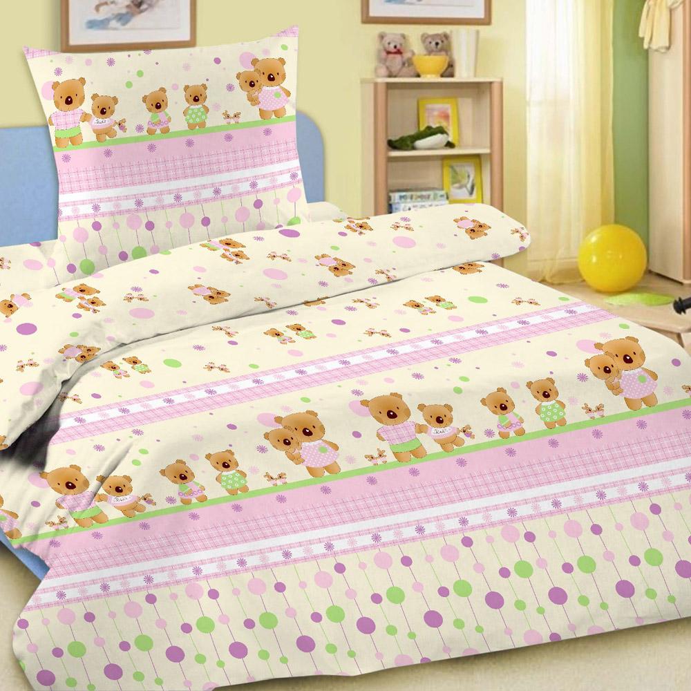 Комплект постельного белья детский Letto в кроватку BG-14<br>