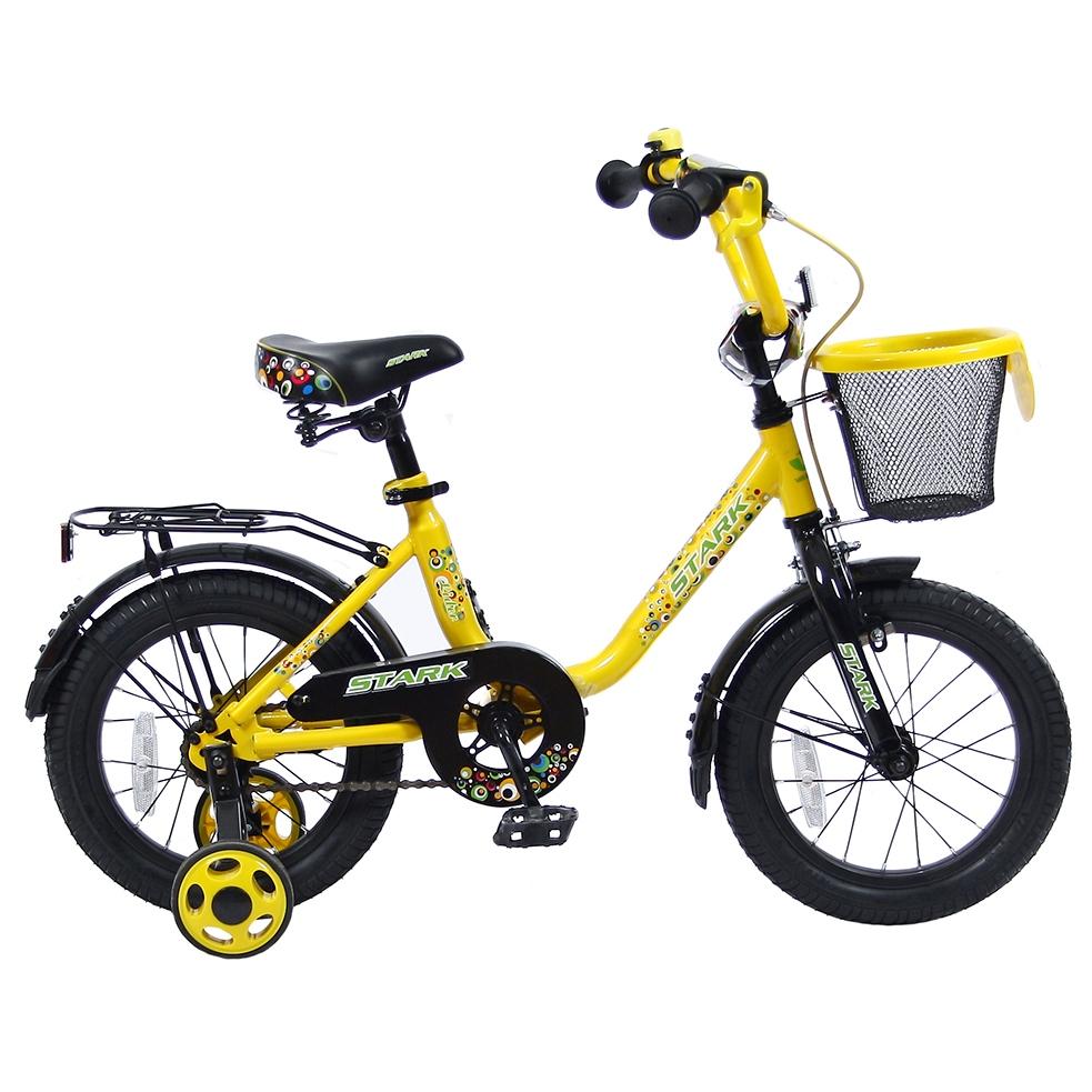 Велосипед двухколесный Velolider 14 Lider Stark 14U-009 Желтый/Черный<br>