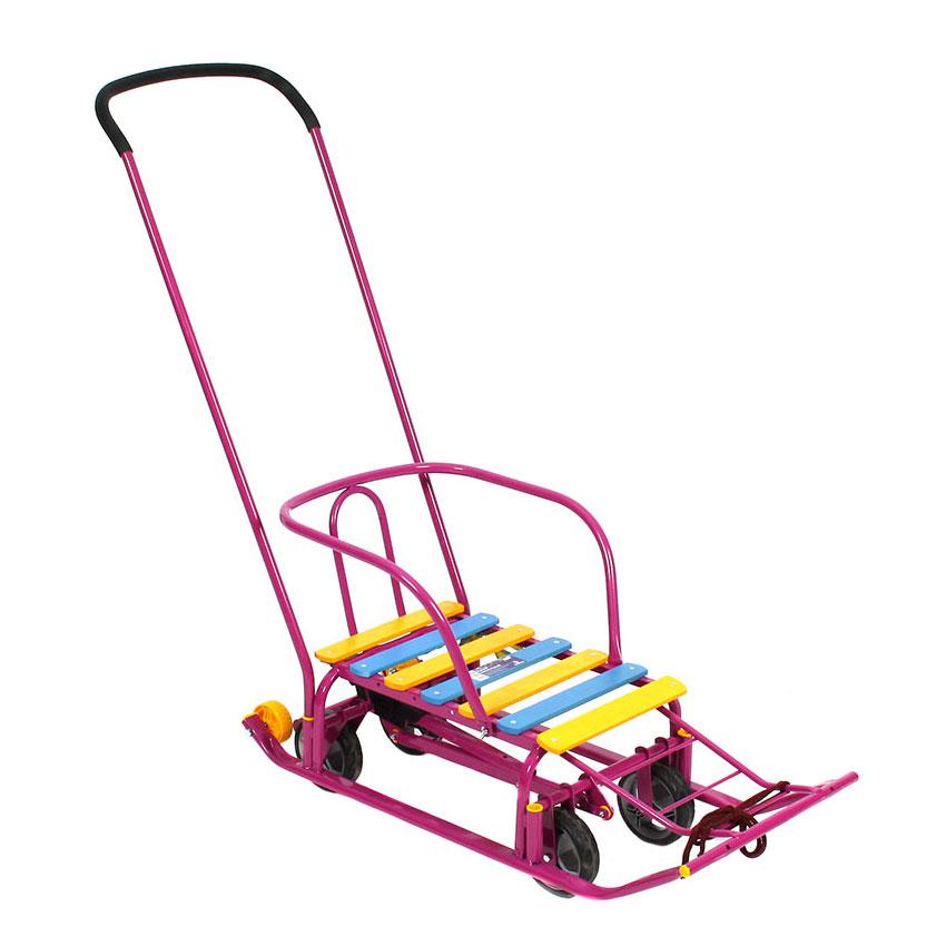Санимобиль Kelkka BURAN на больших колесах+2 маленьких колеса Фиолетовый<br>
