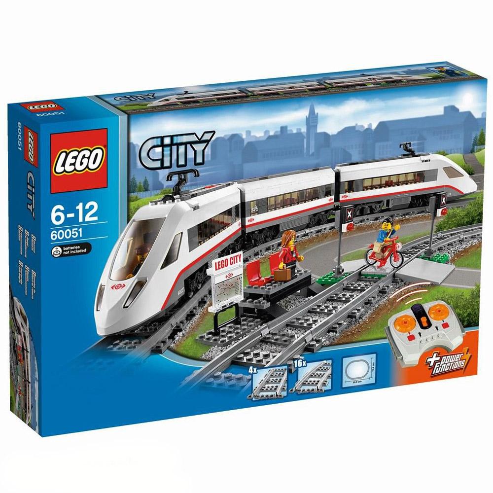 Конструктор LEGO City 60051 Скоростной пассажирский поезд<br>