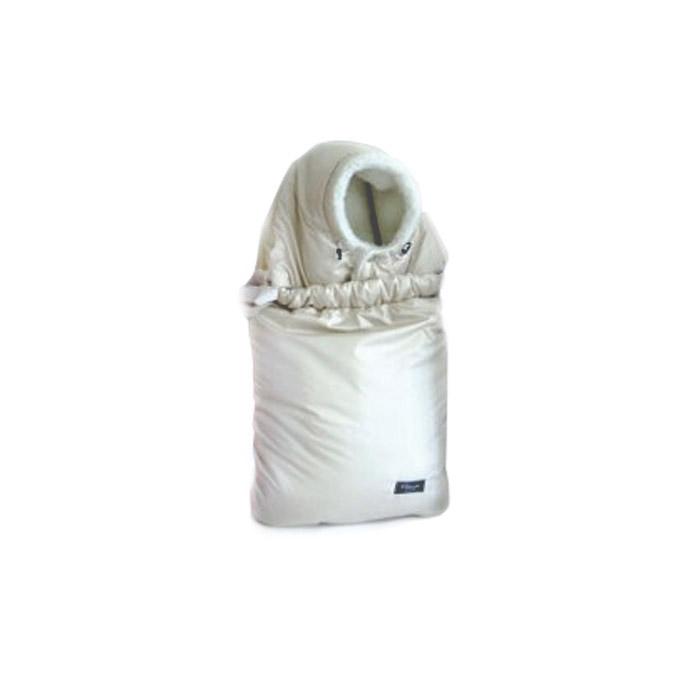 Конверт в коляску Снежинка меховой 2 в 1 с ковриком Белый<br>