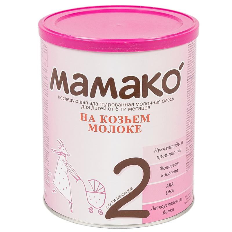 Мамако молочная смесь на основе козьего молока 800 гр №2 (с 6 до 12 мес)<br>