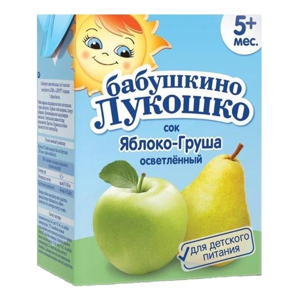 Сок Бабушкино лукошко 200 мл (тетрапак) Яблоко груша (с 5 мес)<br>