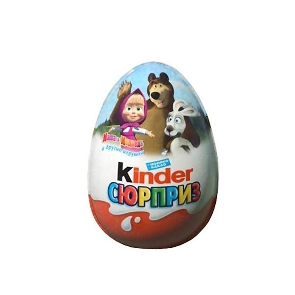 Яйцо шоколадное Kinder Сюрприз Маша и Медведь<br>