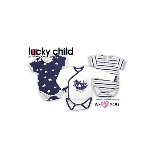 Комплект боди с коротким рукавом Lucky Child Котики (3 шт) рост 74<br>