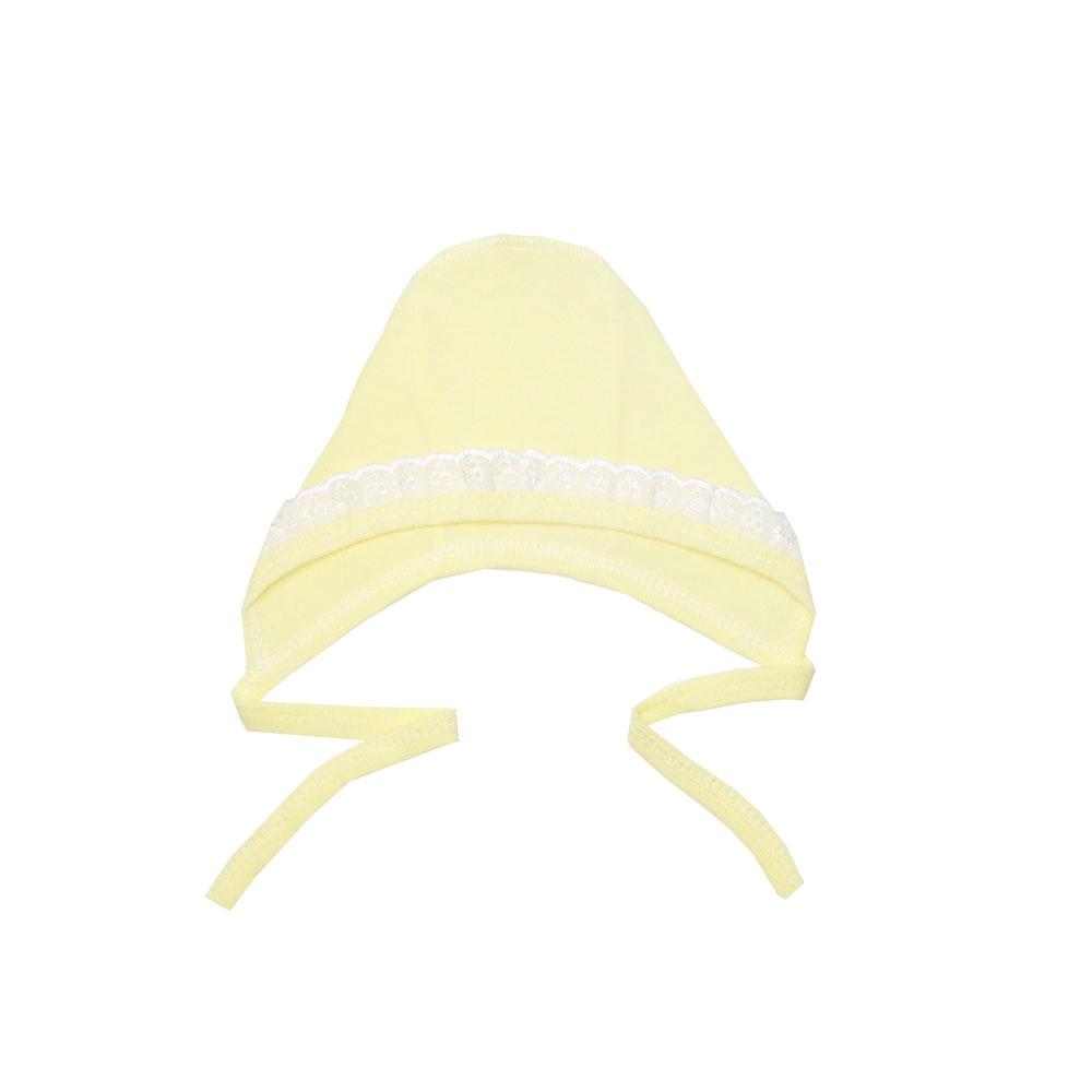 Чепчик с шитьем КОТМАРКОТ, цвет желтый 0-2 мес (размер 40)<br>