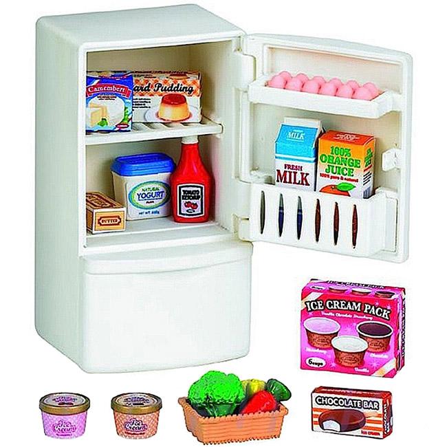 Мебель и аксессуары Sylvanian Families Холодильник с продуктами (новый)<br>