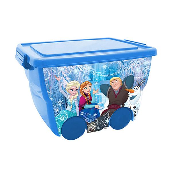 Ящик для игрушек Disney на колёсах Холодное Сердце Голубой<br>