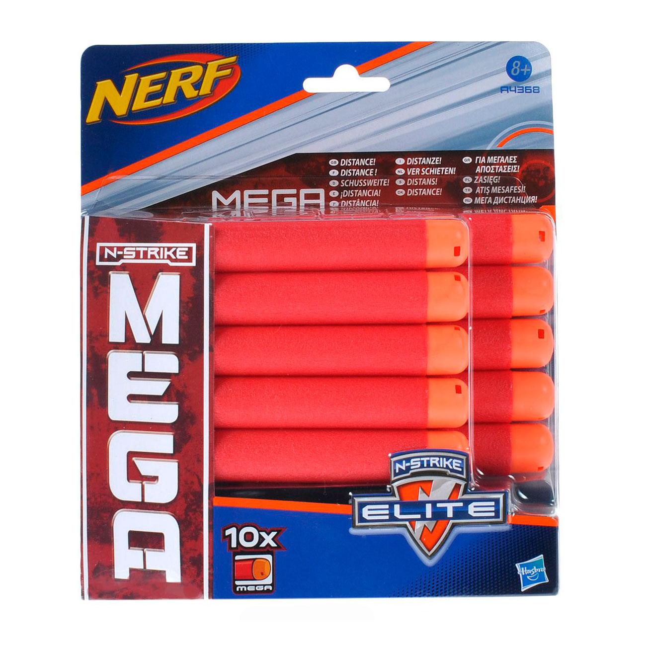 Бластер NERF 10 стрел для бластеров МЕГА<br>